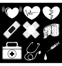 Different medical instruments vector