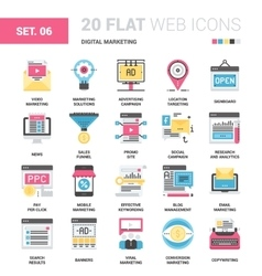 Digital Marketing Icons vector image