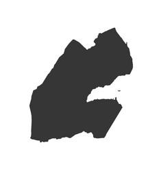 djibouti map silhouette vector image