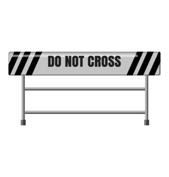 Do not cross traffic barrier icon vector