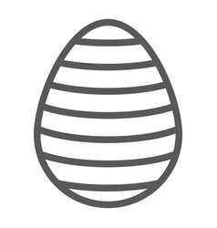 easter egg line icon easter and decoration vector image