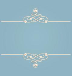 elegant golden knot sign blue and beige pastel vector image
