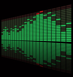 Equalizer Display vector image vector image
