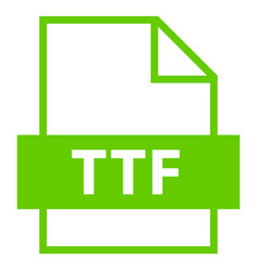 File name extension ttf type vector