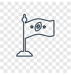 flag concept linear icon isolated on transparent vector image