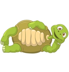 Funny Turtle Lie vector