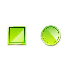 Glossy button web icon vector