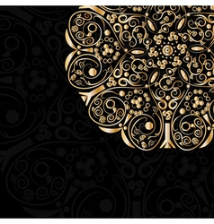 Gold pattern in circle vector image