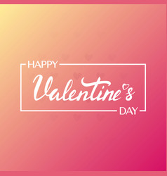 happy valentines day background modern vector image