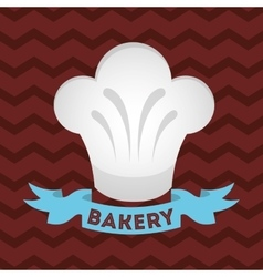 Hat chef bakery shop vector