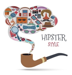 Hipster style concept vector image