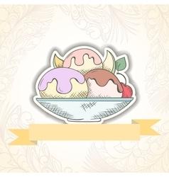 Ice cream invitation card vector image