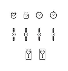 Icon set watch vector