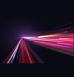 image of colorful light trails with motion vector image