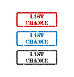 Last chance set rubber stamp isolated on white vector
