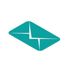 message isometric icon envelope symbol vector image