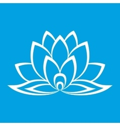New lotus flower sign vector image