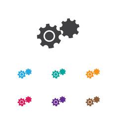of building symbol on cogwheel vector image vector image