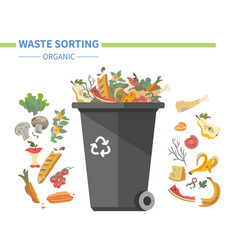 organic waste recycling - modern flat design style vector image