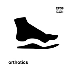 Orthopedic insoles isolated on white background vector image