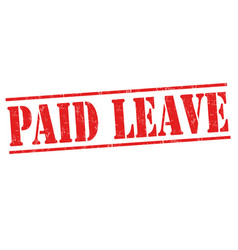 Paid leave sign or stamp vector