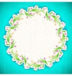 Pattern flower Background april web vector image