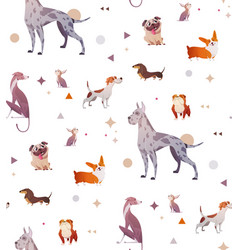 pattern of a simple patten with dogs vector image