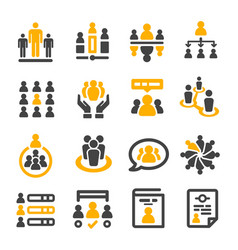 People management icon vector