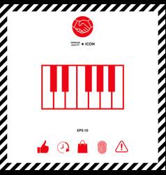 piano keyboard icon vector image