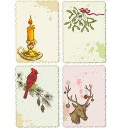retro christmas cards vector image