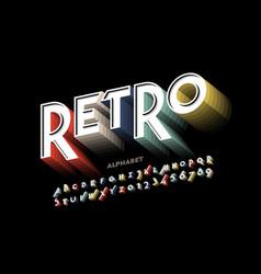 Retro style font design vector