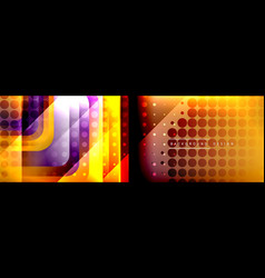 round squares shapes composition geometric vector image