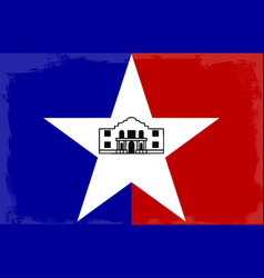 San antonio city flag vector