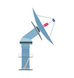 satelite dish icon antenna radar radio vector image