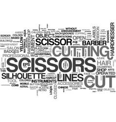 Scissors word cloud concept vector
