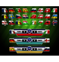 Scoreboard and europe flag vector