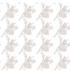 Seamless pattern with pine branches vector