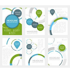 Set of business flyer template brochure or vector