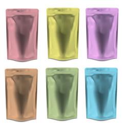 set realistic blank food packaging vector image