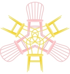 Set with chairs vector