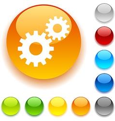 Settings button vector