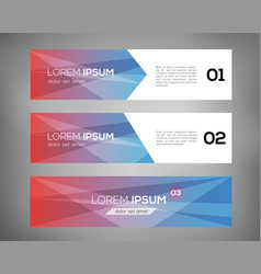 simple geometric banners 08 vector image