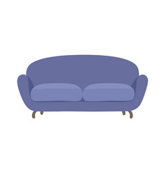 sofa and couch blue colorful cartoon vector image