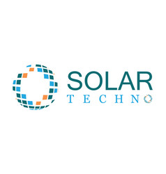 solar technology logo vector image