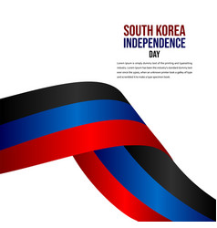 South korea independence day celebration template vector
