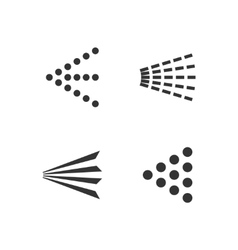 Spray icons set vector