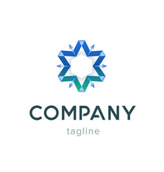 star company logo template modern blue symbol for vector image vector image