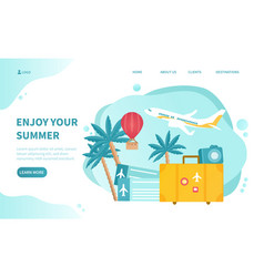 summer holidays web page template vector image