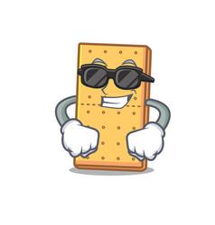 Super cool graham cookies character cartoon vector