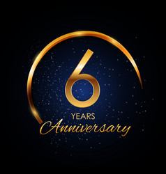 Template logo 6 year anniversary vector